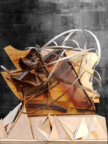 Piano di curve sonore, un'opera collettiva di Stefa, Federico Capitoni, Edoardo Bellucci al MACRO di Roma