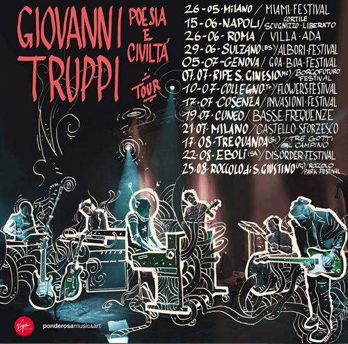 """Giovanni Truppi, il 15 giugno parte il tour estivo di """"Poesia e civiltà"""""""