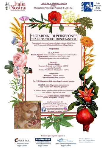 I giardini di Persefone – Tra le piante del mondo antico. Appuntamento ai Musei e parco archeologico nazionale di Locri