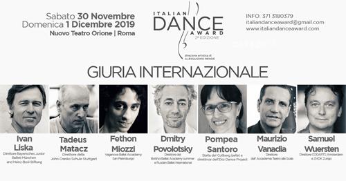 Italian Dance Award, aperte le iscrizioni per la II edizione con eccellenze internazionali e con la direzione artistica di Alessandro Rende