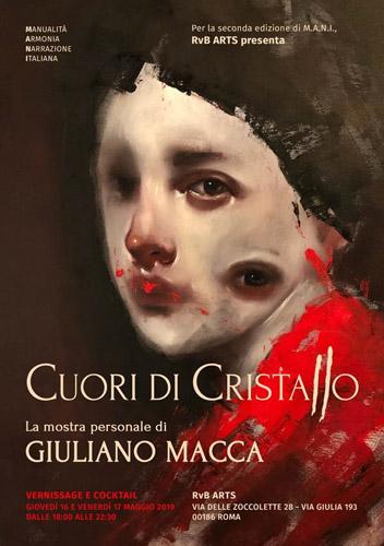 Cuori di Cristallo, la mostra personale di Giuliano Macca all' RvB Arts di Roma