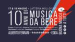 Musica da Bere 2019 dal 17 e 18 maggio alla Latteria Molloy di Brescia. Targhe 2019 a Alberto Ferrari (Verdena) la Targa Musica da Bere