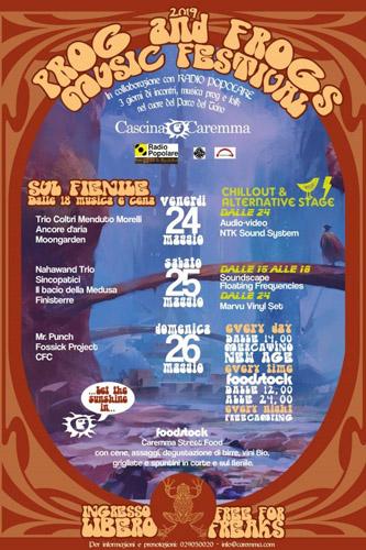 Prog and Frogs, happening tra musica, cultura e benessere 24, 25 e 26 maggio a Cascina Caremma!