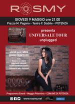 Rosmy in concerto al Teatro Stabile di Potenza con il live Universale Unplugged