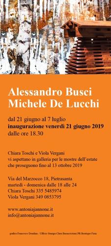 Le opere di Alessandro Busci e le sculture di Michele De Lucchi in mostra alla Galleria Antonia Jannone Disegni di Architettura di Pietrasanta