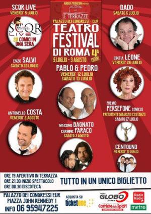 Torna Le Terrazze Teatro Festival di Roma con i grandi professionisti della risata