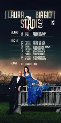 Al via da Bari il tour Laura Biagio Stadi 2019 di Laura Pausini e Biagio Antonacci