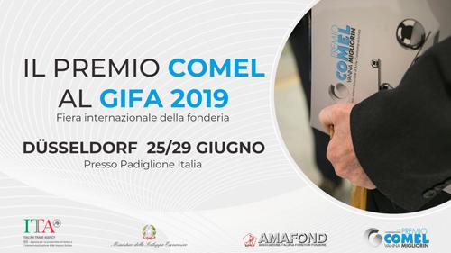 Il Premio COMEL a Düsseldorf come eccellenza del made in Italy al GIFA 2019