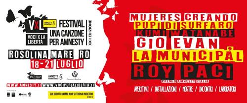 """Roy Paci, Gio Evan, il contest per emergenti: quattro giorni tra musica e diritti umani in """"Voci per la libertà"""""""
