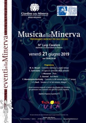 Il violinista Luigi Cavaliere si esibisce alla Festa della Musica organizzata dalla Soprintendenza di Salerno