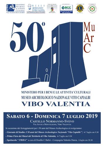 """Al Museo Archeologico Nazionale """"Vito Capialbi"""" di Vibo Valentia in occasione delle celebrazioni del 50° anniversario si terranno importanti iniziative"""