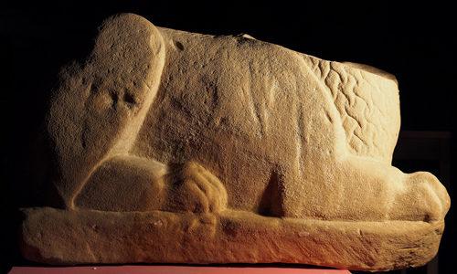 Restauro di una rara scultura funeraria etrusca con cantiere aperto al pubblico al Museo Civico Archeologico di Bologna