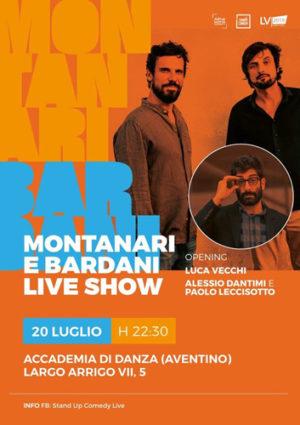 Montanari e Bardani Live Show sul palco dell'Accademia Nazionale di Danza all'Aventino di Roma