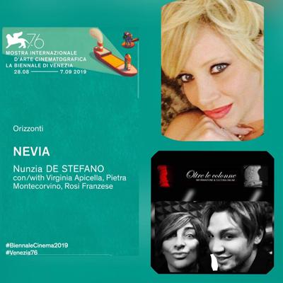 """Nunzia De Stefano a Venezia con """"Nevia"""""""