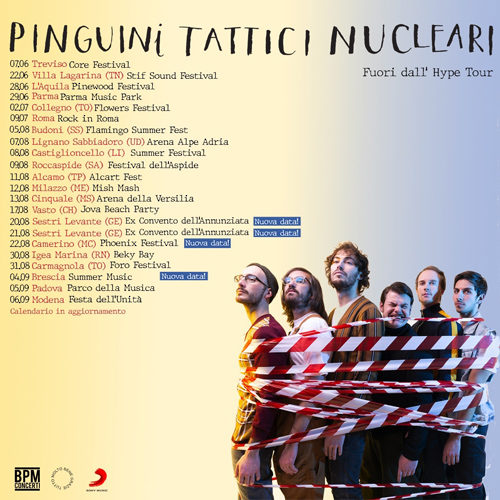 Pinguini Tattici Nucleari, prosegue il tour estivo