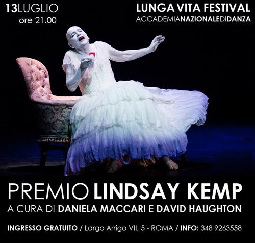 """Serata di Gala """"Premio Lindsay Kemp"""" in occasione del Lunga Vita Festival 2019"""