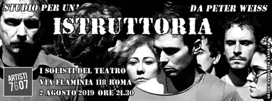 Studio per un'istruttoria, lo spettacolo nell'ambito della rassegna I Solisti del Teatro di Roma
