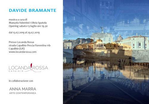 """Davide Bramante in mostra dal 13.07 presso la """"Locanda Rossa"""" di Capalbio. A cura di Manuela Valentini e Olivia Spatola"""