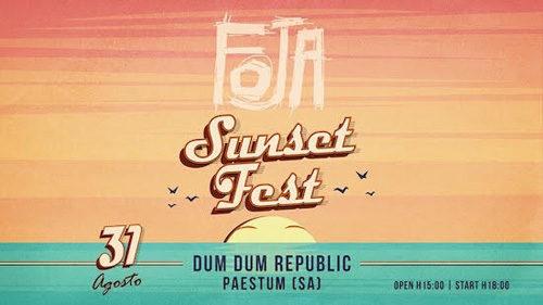 Foja in concerto a Paestum. A pochi giorni dal tour italiano-canadese la band di Dario Sansone suona al tramonto in spiaggia