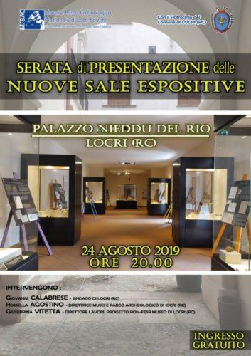Presentazione nuove sale espositive a Palazzo Nieddu Del Rio di Locri