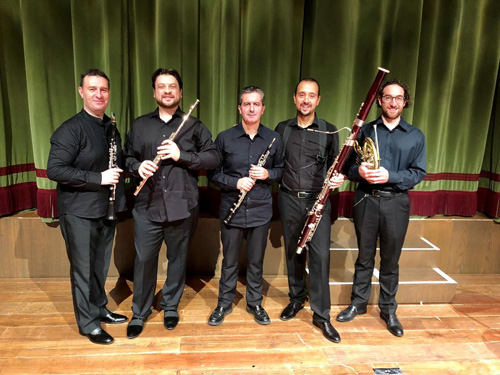 Un prestigioso quintetto di fiati tra le Dolomiti