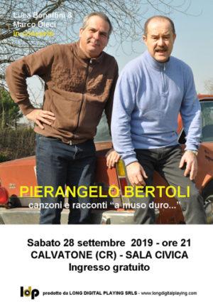 Bonaffini e Dieci ricordano Pierangelo Bertoli in concerto a Calvatone