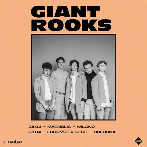 Giant Rooks, due date italiane ad aprile per il nuovo disco