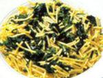 Spaghetti all'ortica e pancetta al profumo di limone