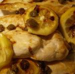 Filetti di pollo al profumo di limone e vino