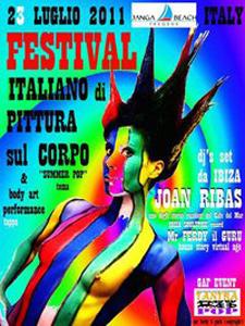 Festival Italiano di pittura sul corpo, una delle tappe