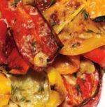 Parmigiana di peperoni con capperi e olive