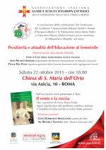 Guide e scouts d'Europa: sabato evento su educazione al femminile