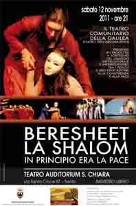 Al teatro va in scena In principio era la pace, il 12 novembre al Santa Chiara