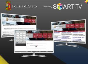 L'applicazione della Polizia di Stato disponibile sugli Smart TV Samsung