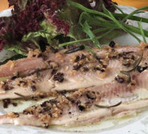 Filetti di trota al tartufo nero