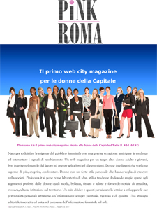 Nasce PINKROMA.IT il primo web magazine per le donne della capitale