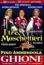 I tre moschettieri approdano al Teatro Ghione di Roma
