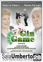 Al Sala Umberto di Roma torna la tournee dello spettacolo Gin Game, con Valeria Valeri e Paolo Ferrari.
