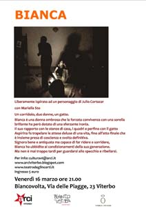 Bianca, lo spettacolo del Teatro degli Incerti a Viterbo