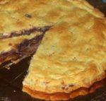 Torta salata con radicchio, speck ed emmenthal