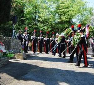 Cerimonia a Castel Madama in ricordo del Vice Brigadiere Renzo Rosati nel 24esimo anniversario della morte