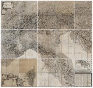 Carte d'Italie, la prima campagna d'Italia di Napoleone Bonaparte nella carta geografica di Bacler D' Albe