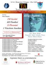 I cento finalisti del Premio Jacopo Fanfani al Teatro dell'Angelo