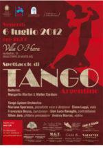 Tango con l'orchestra Tango Spleen e i ballerini Margarita Klurfan e Walter Cardozo