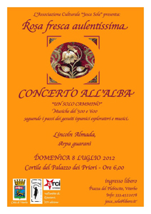 Un solo cammino, il concerto all'Alba