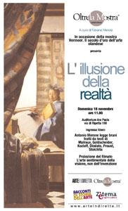 Vermeer. L'illusione della realta', il primo appuntamento di Oltre la mostra all'Ara Pacis di Roma