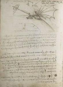 Il Codice sul volo degli uccelli di Leonardo Da Vinci al Museo Statale delle Belle Arti A.S. Pu