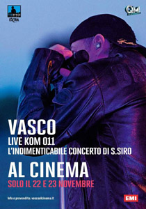 Vasco live Kom 011 al cinema
