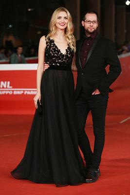 Alessandro Messina e Eleonora ALbrecht sul Red Carpet della Festa del Cinema di Roma