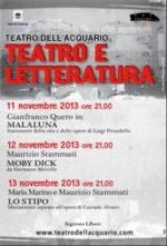 Il Teatro Bertolt Brecht Pro Teatro dell'Acquario di Cosenza